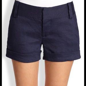 Alice + Olivia navy blue shorts